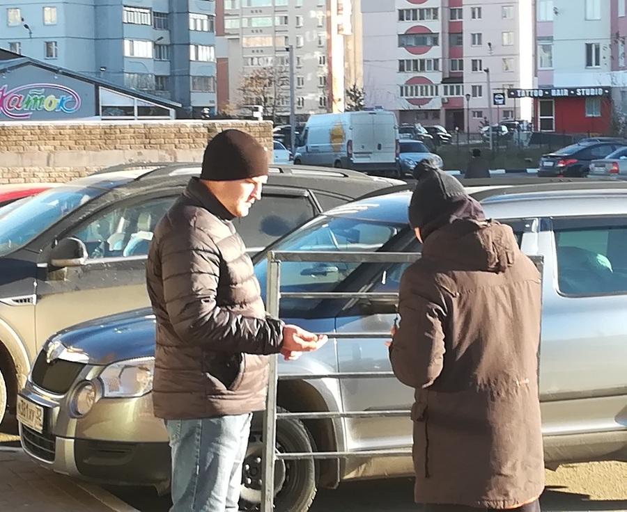 В Брянске заметили просившего милостыню молодого и здорового парня