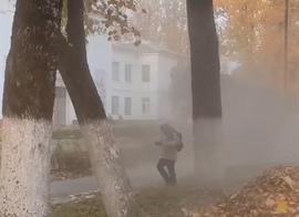 В Брянске сняли на видео опыление школьников «чудовищем»