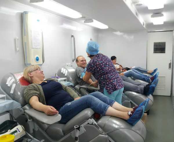 В Брянске возле БГТУ собрали кровь для тяжелобольных