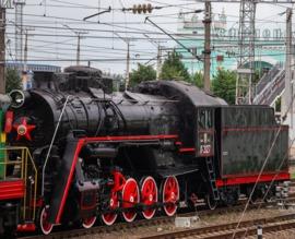 Брянск подарил Смоленску паровоз-памятник «Лебедянка»
