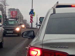 В Брянске сняли на фото светофор-невидимку на переулке Пилотов
