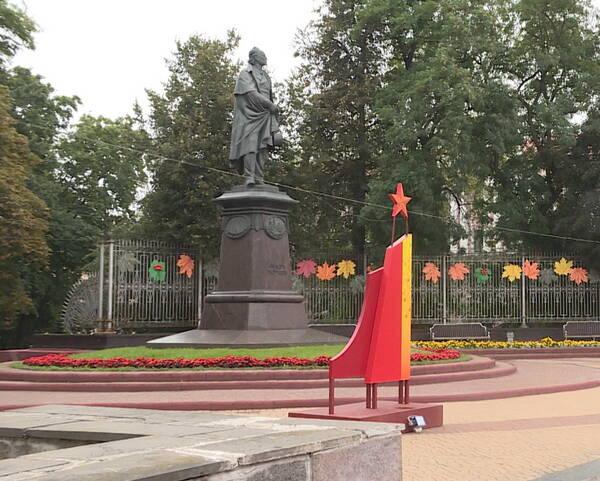 Брянск украсили иллюминацией и баннерами ко Дню города