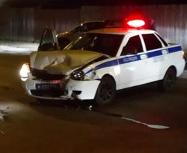В Брянске полицейский автомобиль попал в нешуточную аварию