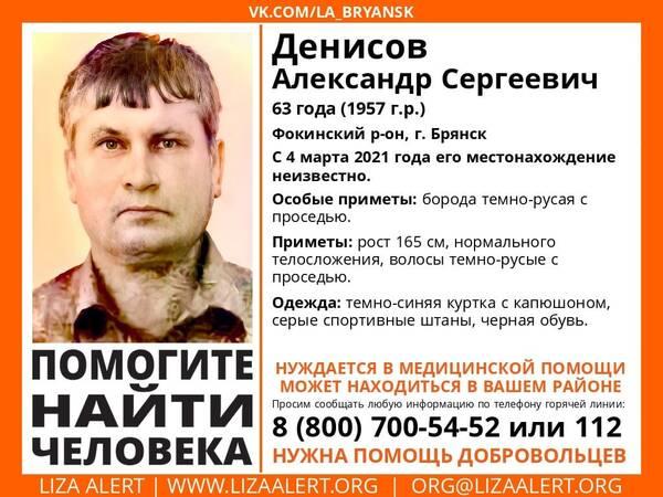 Пропавшего в Брянске 63-летнего Александра Денисова нашли живым