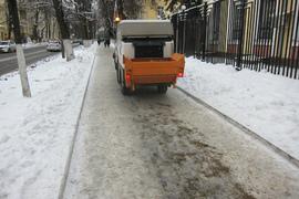 В Брянске за 3 дня на борьбу с гололедом потратили 70 кубометров песка