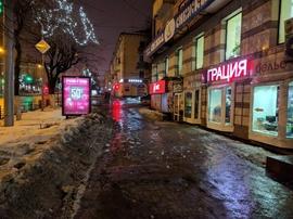 На проспекте Ленина глыбой льда едва не убило журналиста «БрянскToday»