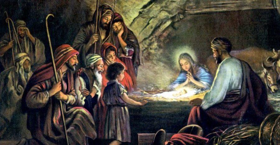 Библейские картинки рождение иисуса христа, открытка днем